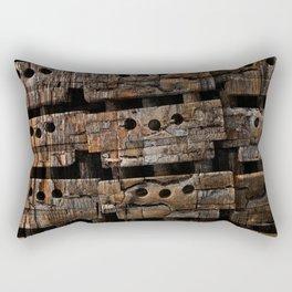 Charred Wood Boxes Rectangular Pillow