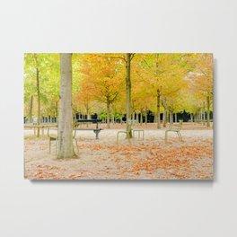 Paris Park in Autumn Luxembourg Metal Print