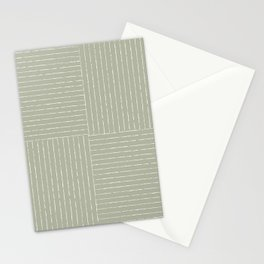 Lines III (Linen Sage) Stationery Cards