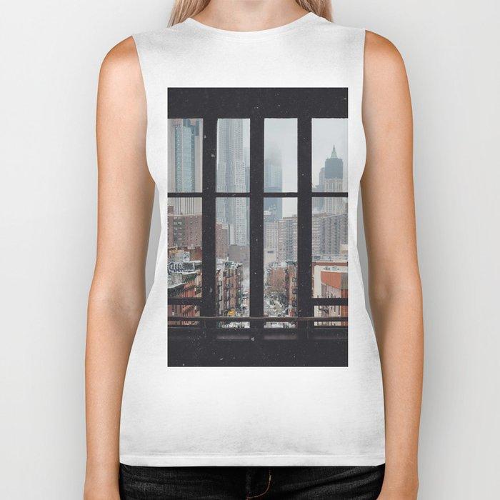 New York City Window Biker Tank