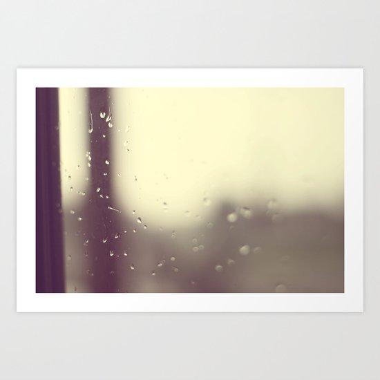 Here Comes The Rain Again Art Print