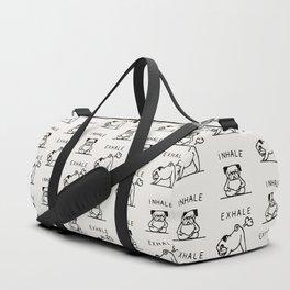 Inhale Exhale Pug Duffle Bag