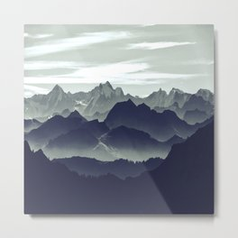 Mountains are calling for us Metal Print