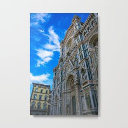 Entrance To The Duomo di Firenze Metal Print