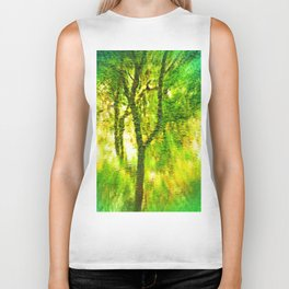 Light In The Forest Biker Tank