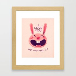 Bunny with love Framed Art Print