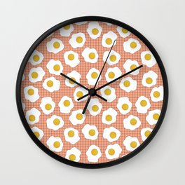 Eggs On Repeat Wall Clock