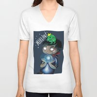 merlin V-neck T-shirts featuring Merlin!!! by Fla'Fla'