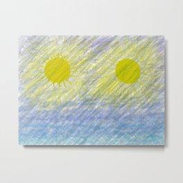 Two suns Metal Print