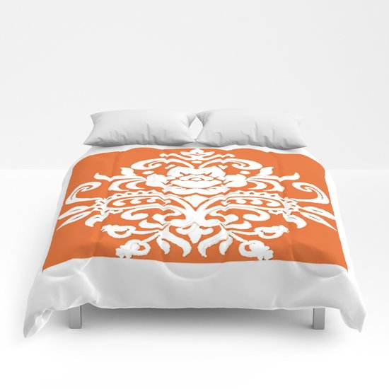 Damask on Peach Comforters