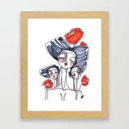 Geishe Framed Art Print