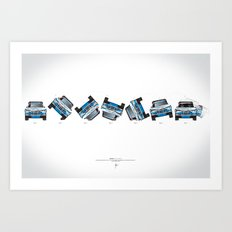 Ari Vatanen-Bruno Berglund, 1989 Paris Dakar crash sequence Art Print