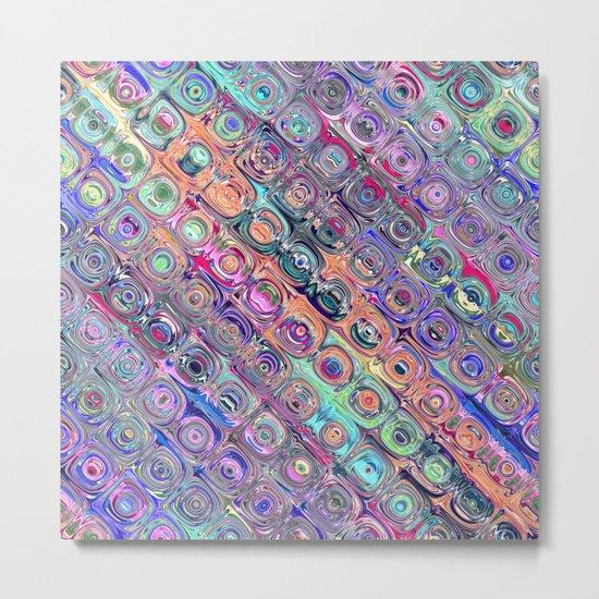 Spectral Glass Beads Metal Print