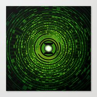 green lantern Canvas Prints featuring Green Lantern by Electra