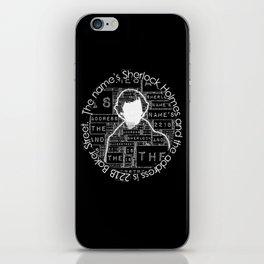 Sherlock BBC: Type iPhone Skin