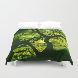 Green is the Tree Duvet Cover