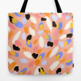 peach abstract Tote Bag