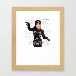 Ms Jackson RN inverse shirt Framed Art Print