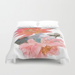Gazelle and Flowers Duvet Cover
