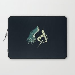 cat paw playing with fire Laptop Sleeve