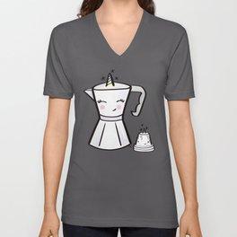 Usnavy Cafecornio Unisex V-Neck