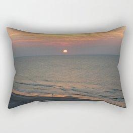 Sunrise Walk on the Sand Rectangular Pillow