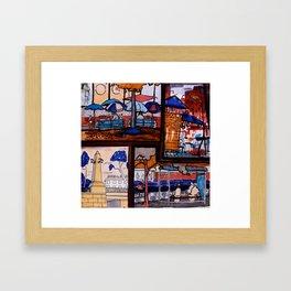 City sketches (Estonia,Tartu) Framed Art Print