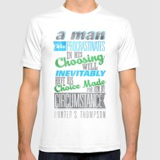 Procrastination Mens Fitted Tee White SMALL