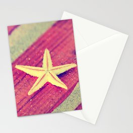 Stars and Stripes on the beach Stationery Cards