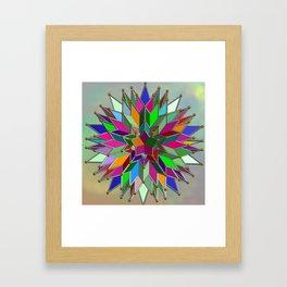 Mandala #106, Star Burst Framed Art Print
