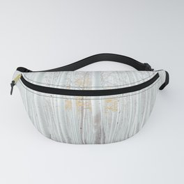 White tree forest Fanny Pack