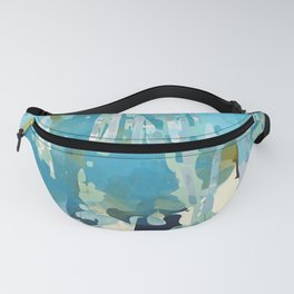 abstract forest in pastels Fanny Pack