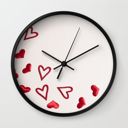 Just Hearts Wall Clock