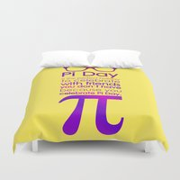 pi Duvet Covers featuring Pi Day by Square Lemon