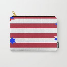 PATRIOTIC JULY 4TH  RED STARS DECORATIVE DESIGN Carry-All Pouch
