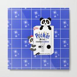 Panda Glitter Pookie Metal Print