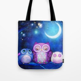Night Owls & Fairy Lanterns Tote Bag