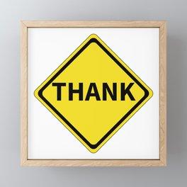 Thank Sign Framed Mini Art Print