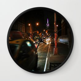A Street Full of Taxis Wall Clock