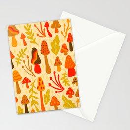 Spring Mushroom Print Stationery Cards