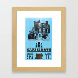 Imagined Ephemera Procaffeinate Leamington Spa Framed Art Print