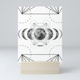 Geometric Moons Royal Stain Mini Art Print