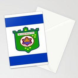 flag of tel aviv Stationery Cards
