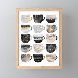 Pretty Coffe Cups 3 - White Framed Mini Art Print