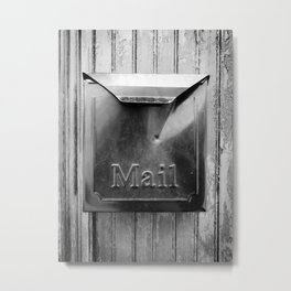 Mail - Black and White Metal Print