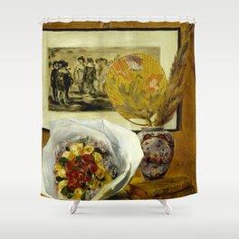 Still Life with Bouquet Shower Curtain