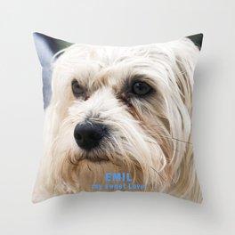 EMIL my sweet Love Throw Pillow