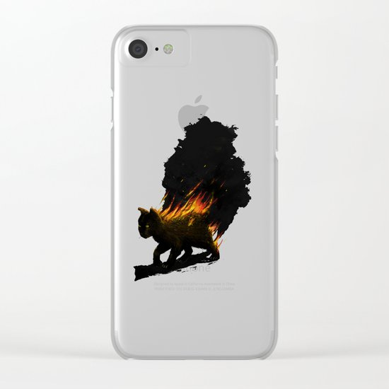 This Cat Is On Fire! Clear iPhone Case