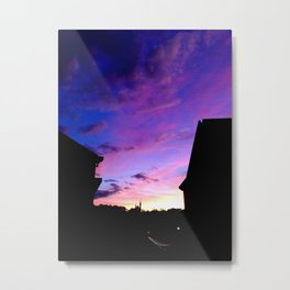 Castle Silhouette Metal Print