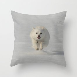 Snow Run Throw Pillow
